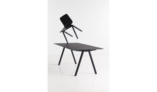 HAY - Copenhague CPH10 - 160 x 80 cm - Gestell Eiche geseift - Tischplatte Linoleum grau - 10