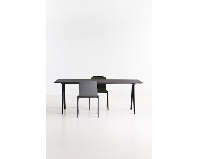 HAY - Copenhague CPH10 - 160 x 80 cm - Gestell Eiche geseift - Tischplatte Linoleum grau - 12