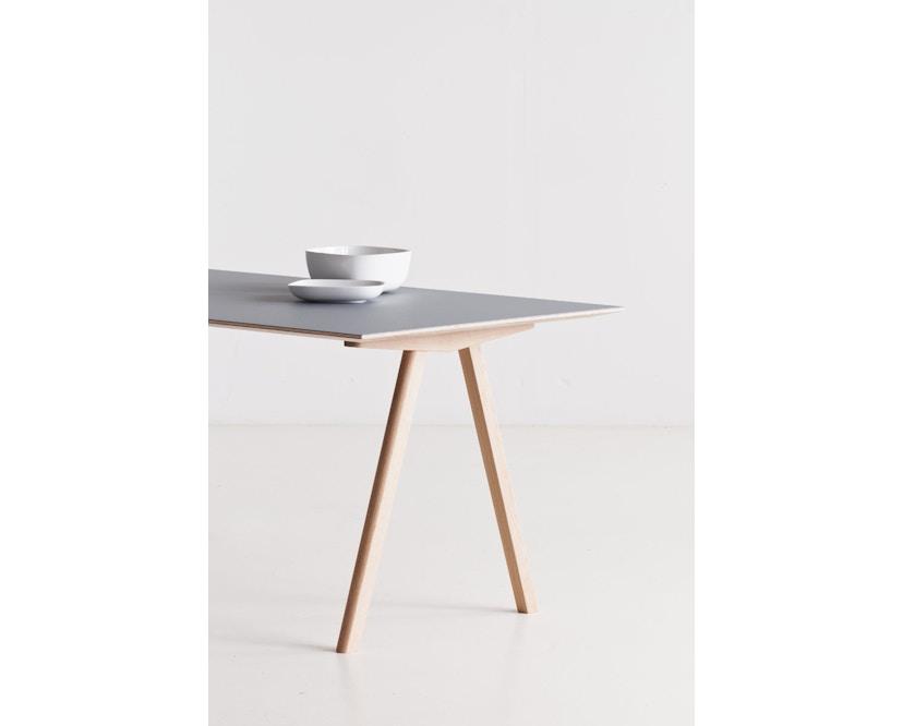 HAY - Copenhague CPH10 - 160 x 80 cm - Gestell Eiche geseift - Tischplatte Linoleum grau - 13