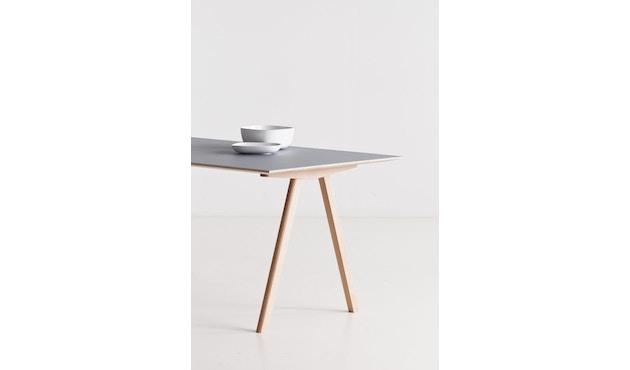 HAY - Copenhague CPH10 - 160 x 80 cm - Gestell klar lackiert - Tischplatte Linoleum schwarz - 12