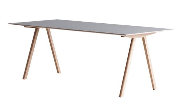 HAY - Copenhague CPH10 - 160 x 80 cm - Gestell klar lackiert - Tischplatte Linoleum grau - 3