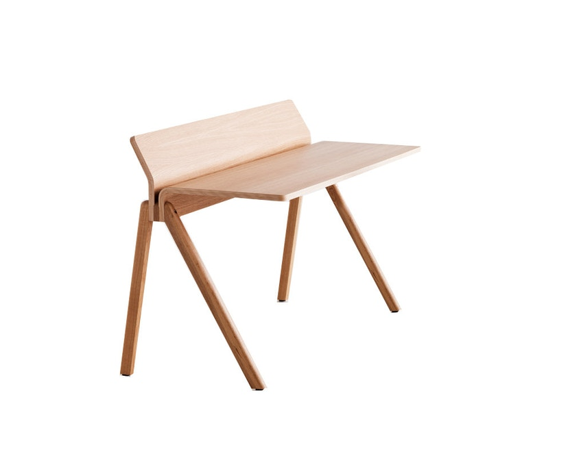 HAY - Copenhague CPH190 Schreibtisch - Gestell Eiche klar lackiert - Tischplatte Eiche lackiert - 1