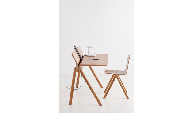 HAY - Copenhague CPH190 Schreibtisch - Gestell Eiche klar lackiert - Tischplatte Eiche lackiert - 6