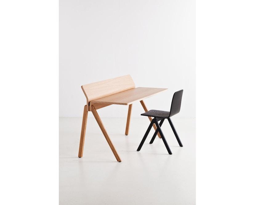 HAY - Copenhague CPH190 Schreibtisch - Gestell Eiche klar lackiert - Tischplatte Eiche lackiert - 7