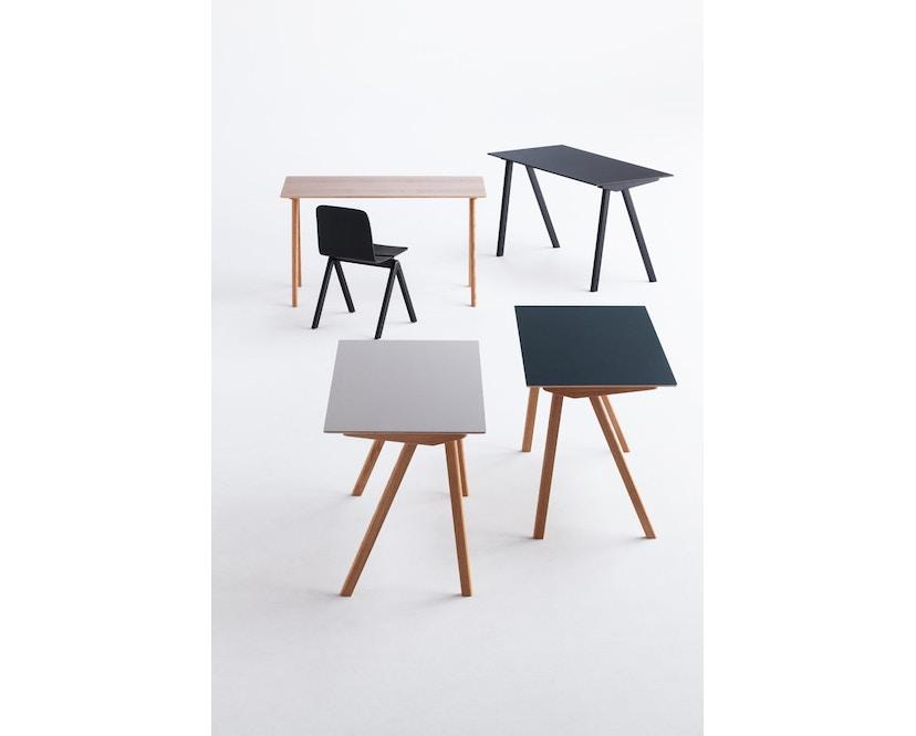 HAY - Copenhague CPH90 Schreibtisch - Gestell Eiche geseift - Tischplatte Linoleum grau - 11