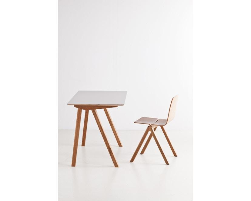 HAY - Copenhague CPH90 Schreibtisch - Gestell Eiche geseift - Tischplatte Linoleum grau - 12
