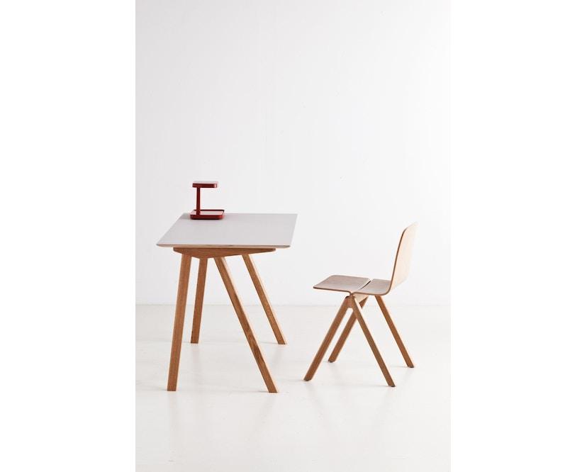 HAY - Copenhague CPH90 Schreibtisch - Gestell Eiche geseift - Tischplatte Linoleum grau - 13