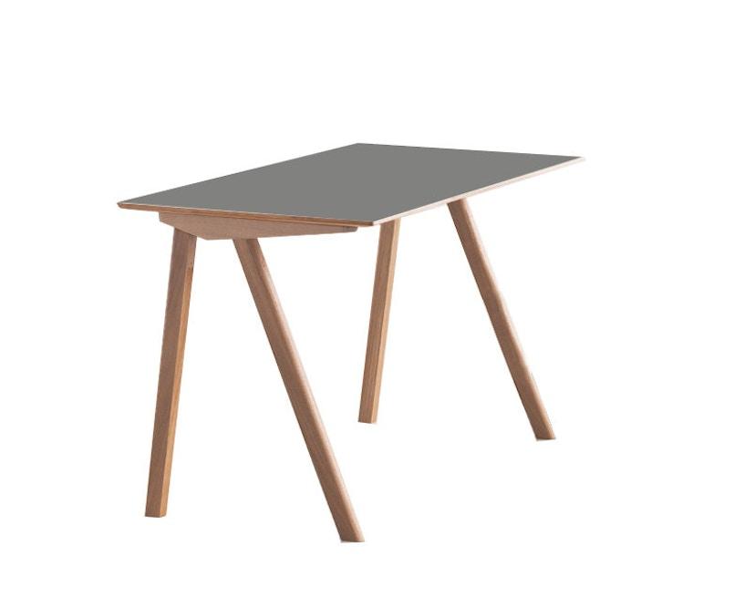 HAY - Copenhague CPH90 Schreibtisch - Gestell Eiche geseift - Tischplatte Linoleum grau - 7