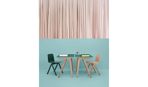 HAY - Copenhague CPH90 Schreibtisch - Gestell Eiche geseift - Tischplatte Linoleum grau - 10