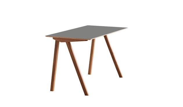 HAY - Copenhague CPH90 Schreibtisch - Gestell klar lackiert - Tischplatte Linoleum grau - 5
