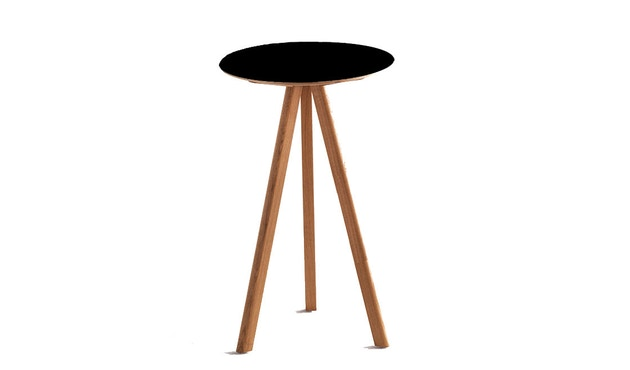 HAY - Table haute Copenhague CPH20 - clair verni - noir - 7