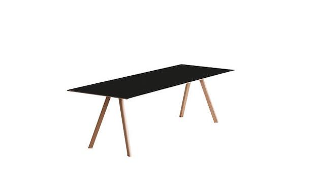 HAY - Copenhague CPH30 Esstisch - 200 x 90 cm - Gestell Eiche geseift - Tischplatte Linoleum schwarz - 3