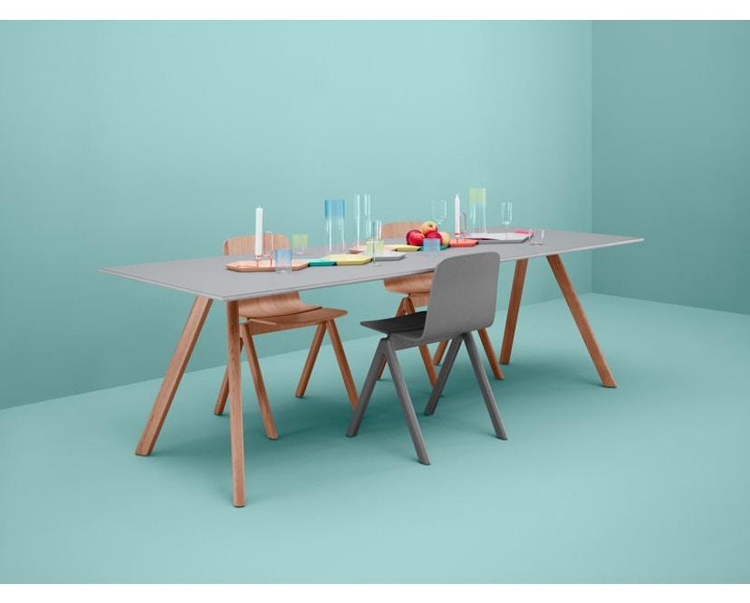 HAY - Copenhague CPH30 Esstisch - 200 x 90 cm - Gestell Eiche geseift - Tischplatte Linoleum grau - 9