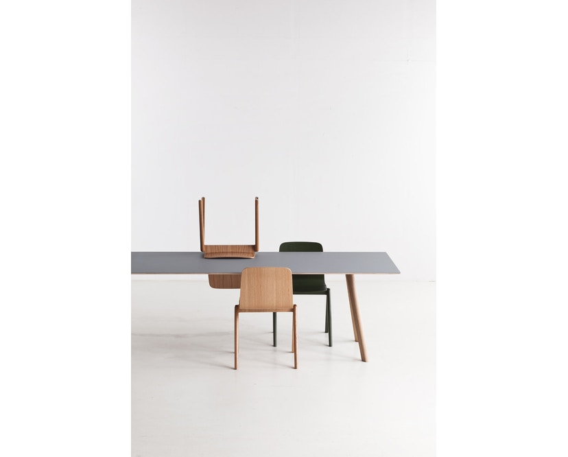 HAY - Copenhague CPH30 Esstisch - 200 x 90 cm - Gestell Eiche geseift - Tischplatte Linoleum grau - 13