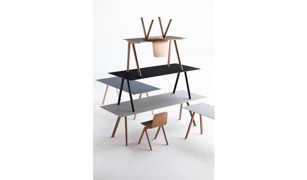HAY - Copenhague CPH30 Esstisch - 200 x 90 cm - Gestell Eiche geseift - Tischplatte Linoleum schwarz - 9