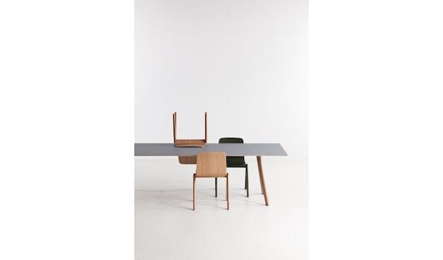 HAY - Copenhague CPH30 Esstisch - 200 x 90 cm - Gestell Eiche geseift - Tischplatte Linoleum schwarz - 11