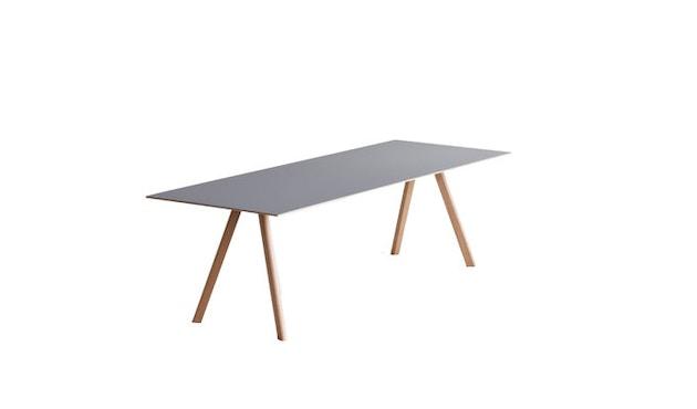 HAY - Copenhague CPH30 Esstisch - 200 x 90 cm - Gestell Eiche geseift - Tischplatte Linoleum grau - 5