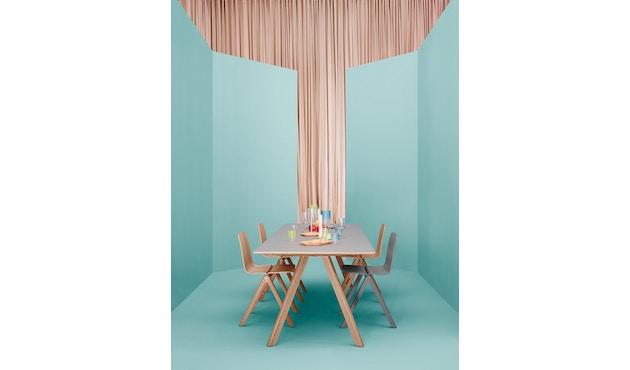 HAY - Table de salle à manger Copenhague CPH30 - 200 x 90 cm - noir - décapé noir - 6