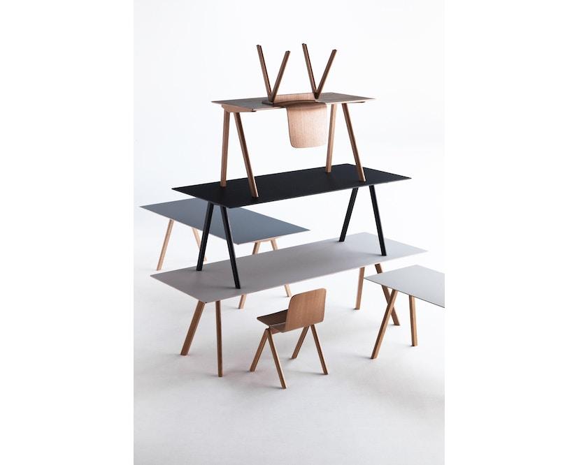 HAY - Copenhague CPH30 Esstisch - 200 x 90 cm - Gestell Eiche matt lackiert - Tischplatte Linoleum grau - 11
