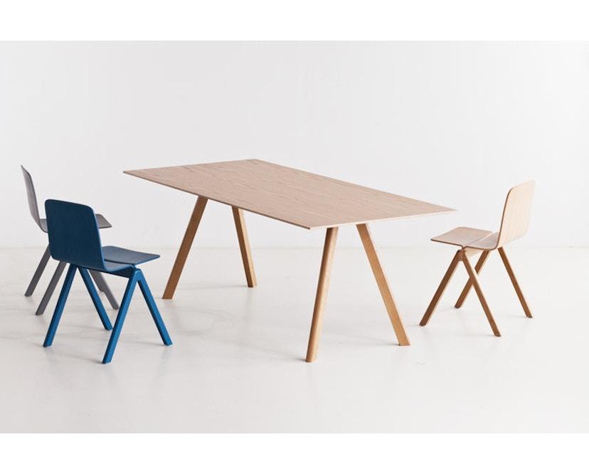 HAY - Copenhague CPH30 Esstisch - 200 x 90 cm - Gestell Eiche matt lackiert - Tischplatte Linoleum grau - 14