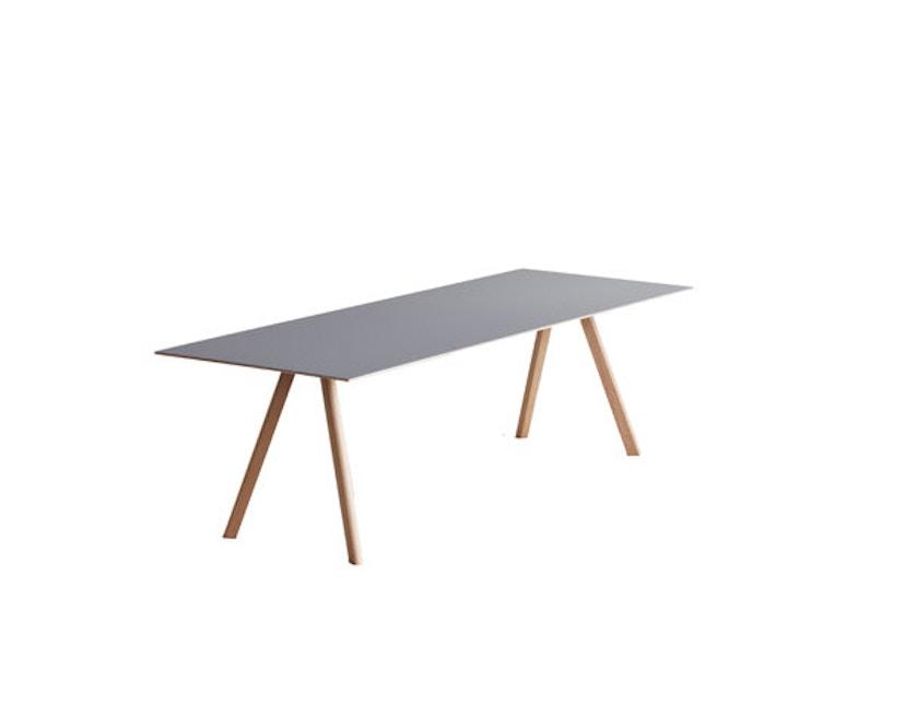HAY - Copenhague CPH30 Esstisch - 200 x 90 cm - Gestell Eiche matt lackiert - Tischplatte Linoleum grau - 5