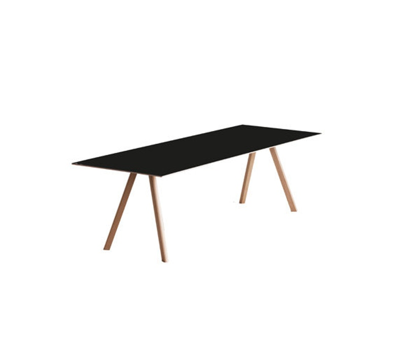 HAY - Copenhague CPH30 tafel - 250 x 90 cm - zwart - Eik gezeept - 3