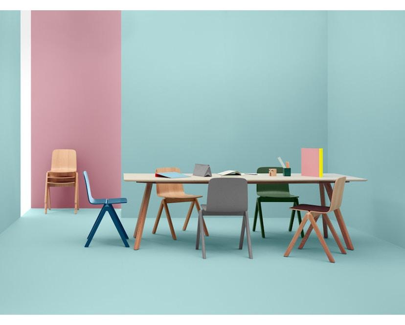 HAY - Copenhague CPH30 tafel - 250 x 90 cm - zwart - Eik gezeept - 5