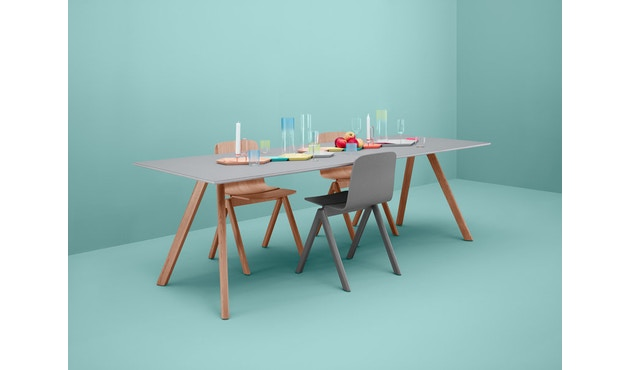 HAY - Copenhague CPH30 tafel - 250 x 90 cm - zwart - Eik gezeept - 7