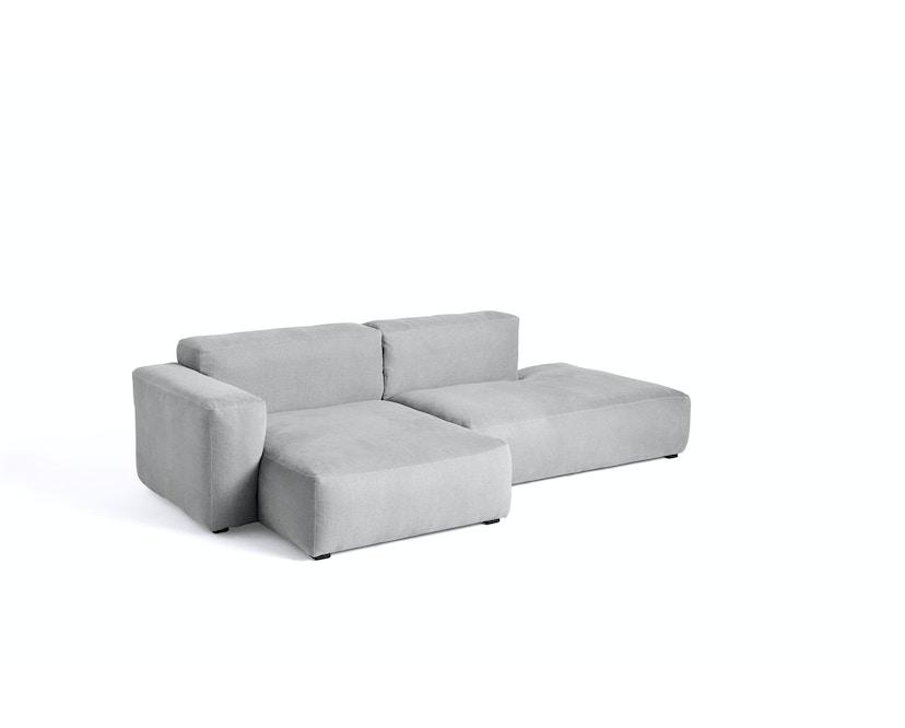 Mags Ecksofa 2,5 Sitzer Combination 3, dark grey stitches - Linara 443