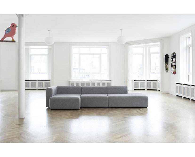 HAY - Mags Soft 3-zitter, bank - zwart - Hallingdal 110 - beige / lichtgrijs - 21