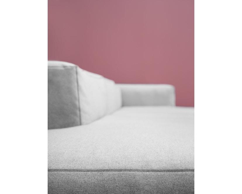 HAY - Mags Soft hoekbank - Hallingdal 110 - beige / lichtgrijs - zwart - 6