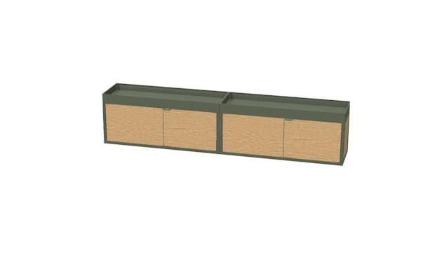 HAY - New Order Wand - Sideboard mit Ablage  - charcoal - Tür Esche schwarz - 2