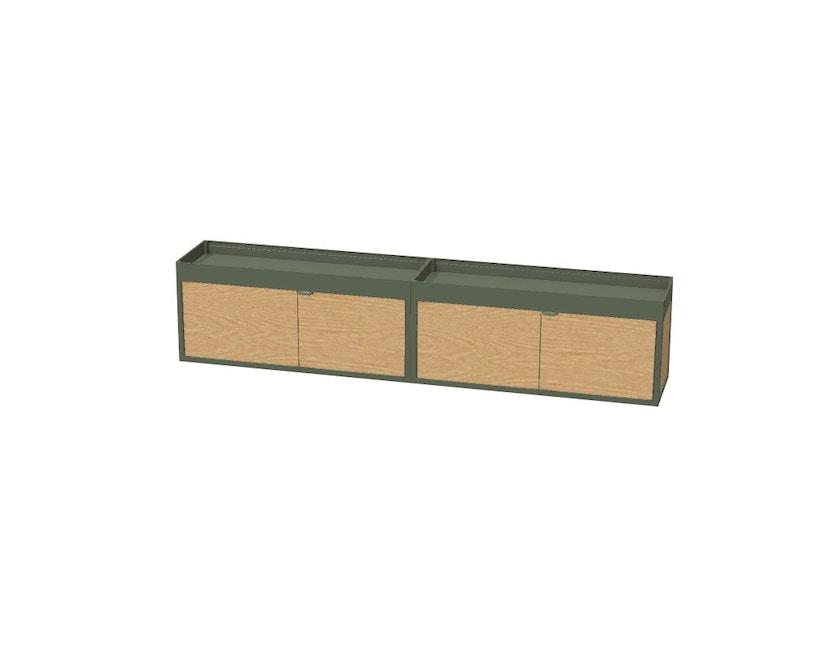 HAY - New Order wand - Sideboard met legplank - zwart - zwart - 2