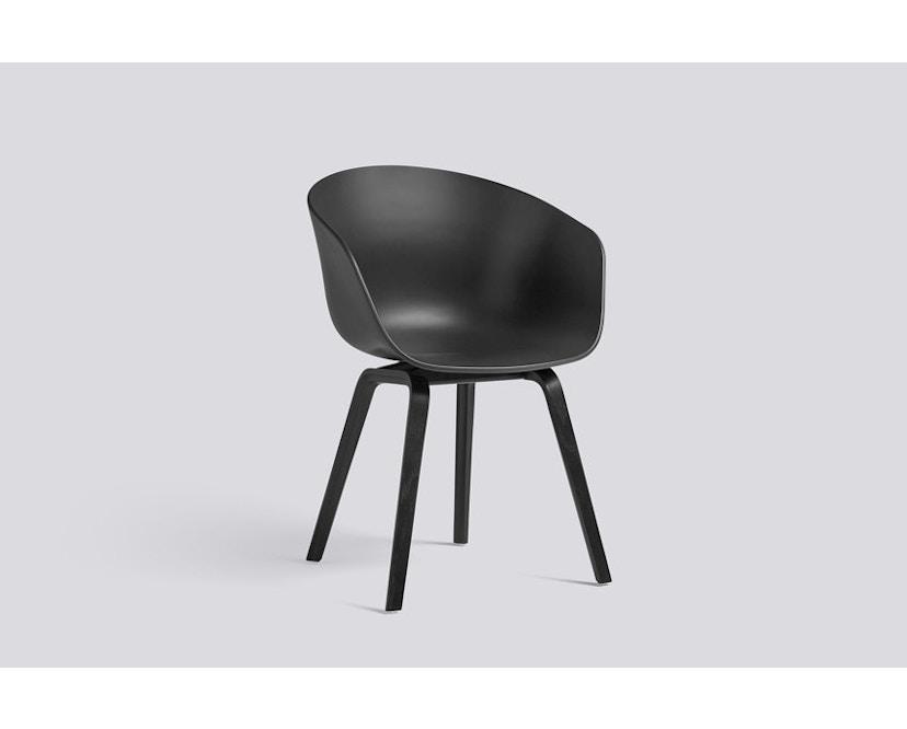 HAY - About a Chair AAC 22 - weiches Schwarz - Gestell Eiche matt lackiert - 1