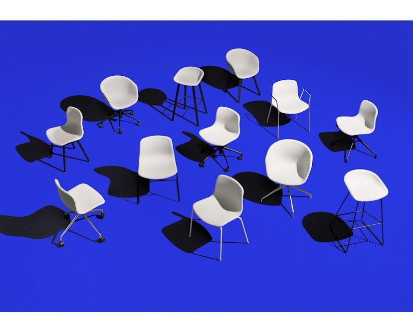 HAY - About a Chair AAC 26 - cremeweiß - Gestell pulverbeschichtet schwarz - 2