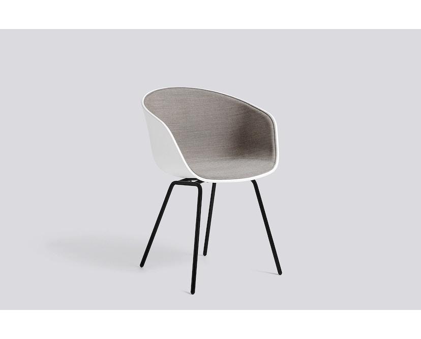 HAY - About a Chair AAC 26 - cremeweiß - Gestell pulverbeschichtet schwarz - 3