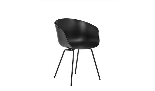 HAY - About a Chair AAC 26 - cremeweiß - Gestell pulverbeschichtet schwarz - 1