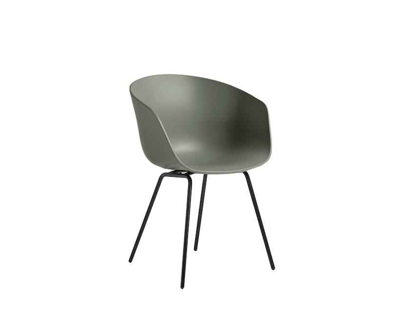 HAY - About a Chair AAC 26 - dusty green - Gestell pulverbeschichtet schwarz - 2