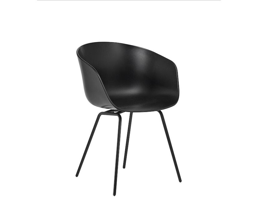 HAY - About a Chair AAC 26 - schwarz - Gestell Stahl verchromt - 1