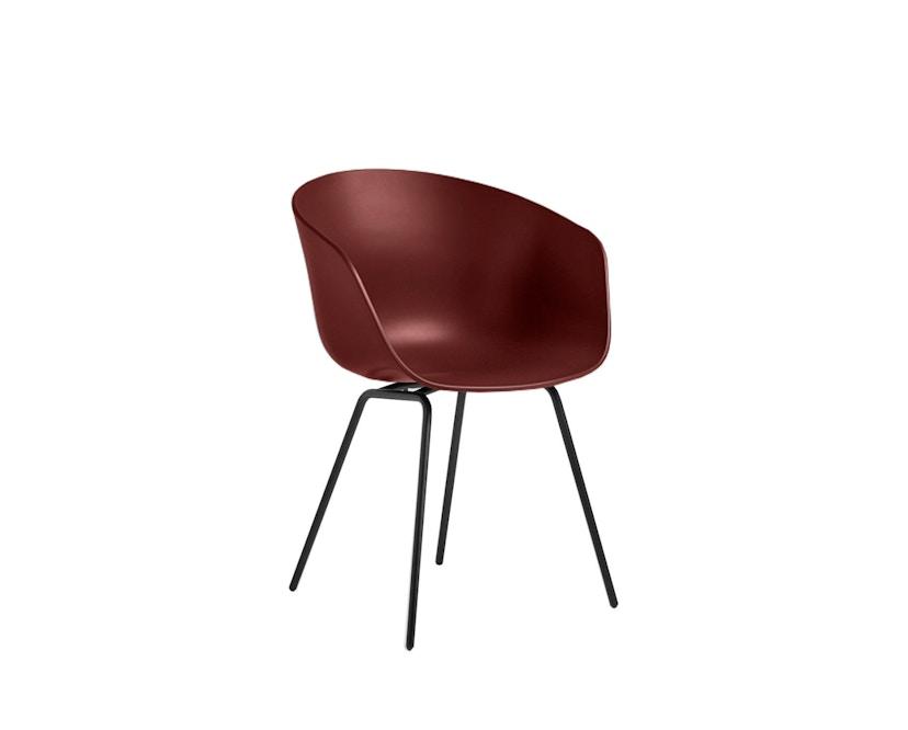 HAY - About a Chair AAC 26 - ziegel - Gestell pulverbeschichtet schwarz - 2