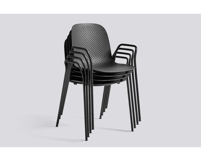 HAY - 13eighty Arm Chair - helles Schwarz - 3