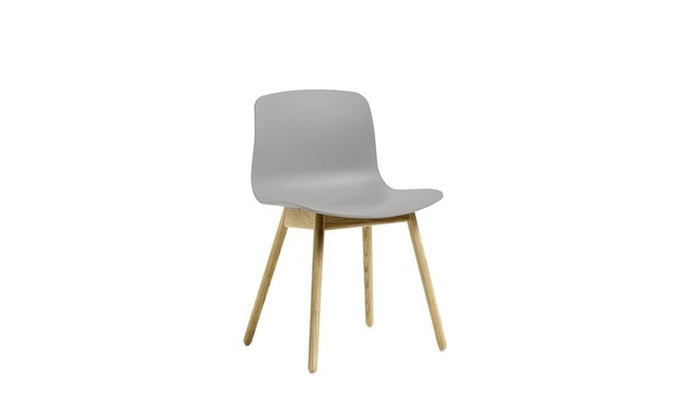 HAY - About a Chair AAC 12 - hellgrau - Gestell Eiche geseift - 3
