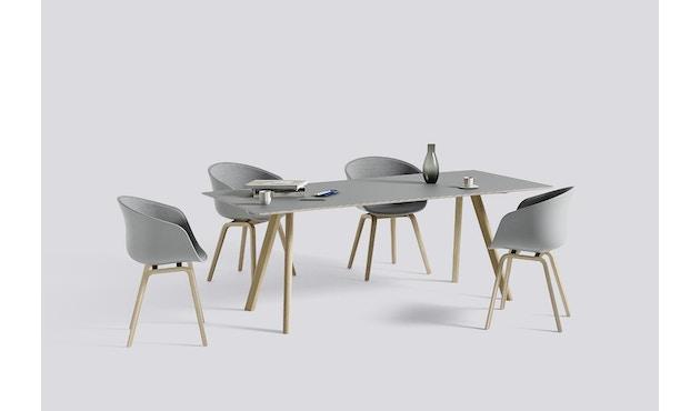 HAY - About a Chair AAC 22 - Spiegelpolsterung - betongrau / Surface 120 - Gestell Eiche matt lackiert - 2