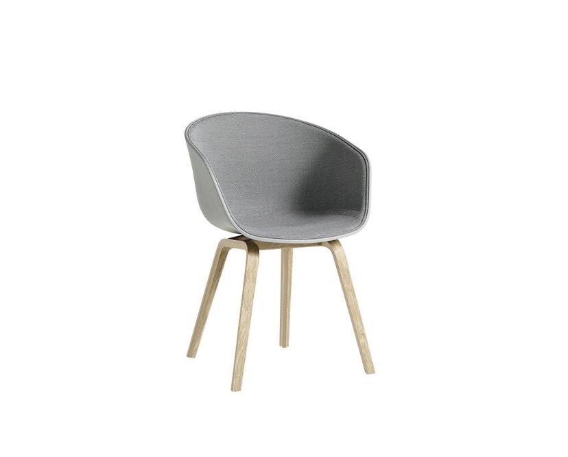 HAY - About a Chair AAC 22 - Spiegelpolsterung - betongrau / Surface 120 - Gestell Eiche matt lackiert - 1