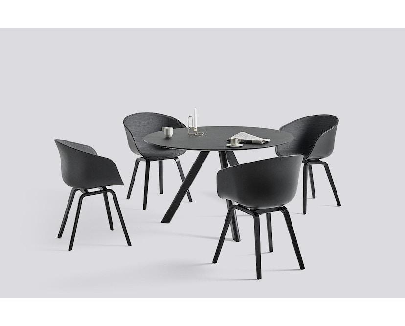 HAY - About a Chair AAC 22 - Spiegelpolsterung - helles schwarz/ Surface 190 - Gestell schwarz - 2