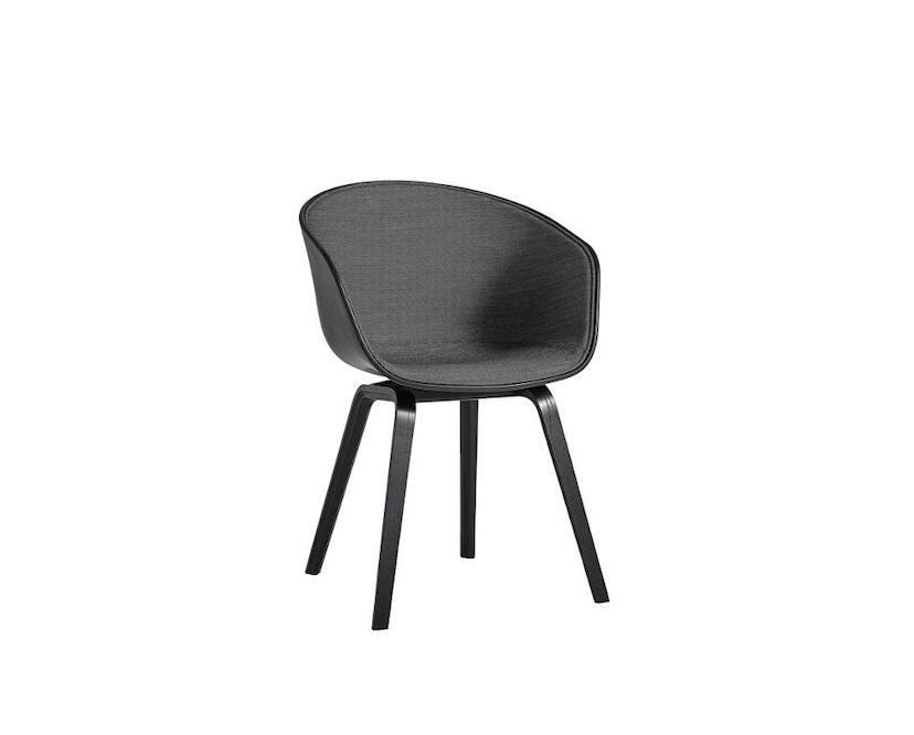 HAY - About a Chair AAC 22 - Spiegelpolsterung - helles schwarz/ Surface 190 - Gestell schwarz - 1
