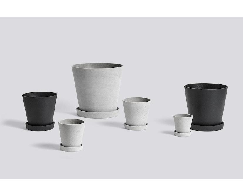 HAY - Pot de fleur avec soucoupe - gris - L - 2