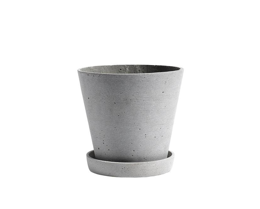 HAY - Blumentopf mit Untersetzer - grau - L - 1