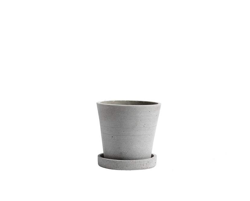 HAY - Blumentopf mit Untersetzer - grau - XL - grijs - S - 1