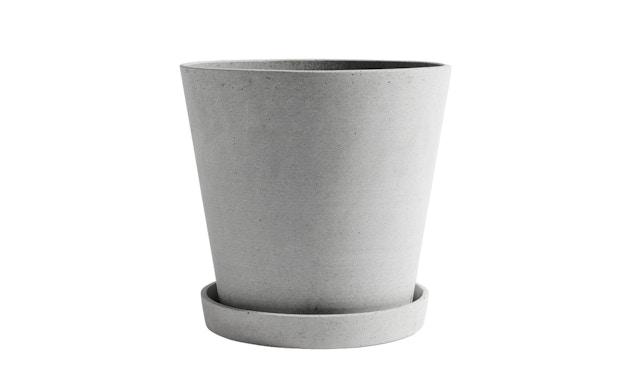 HAY - Blumentopf mit Untersetzer - grau - XXL - 1